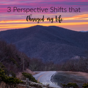 shift in perspective